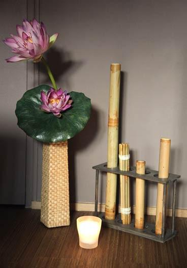 Vase et décoration bambou à IFM Massage