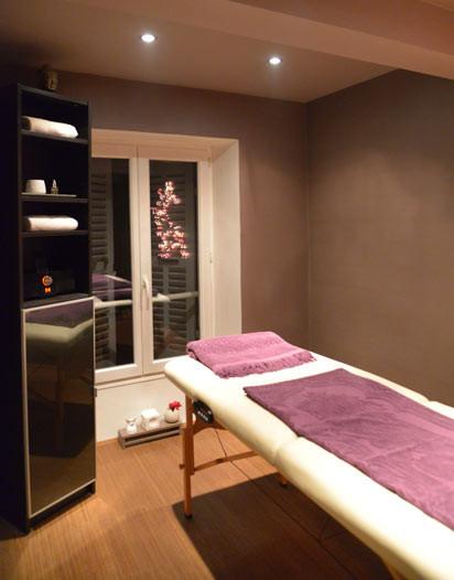 Salle dédié aux massages