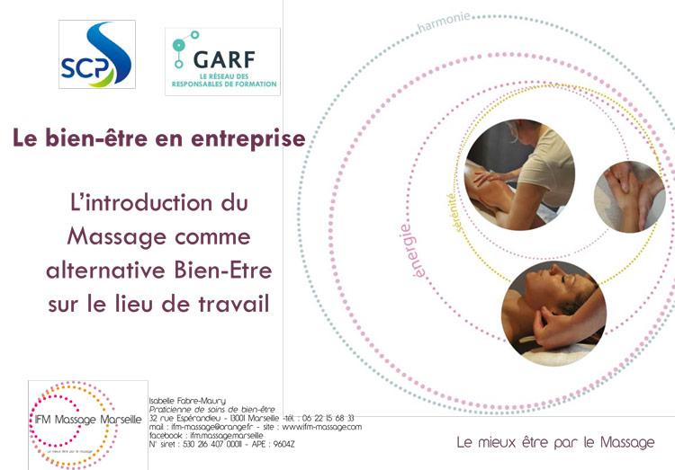 Journée GARF Provence du 23 novembre 2017 : présentation sur le massage en entreprise